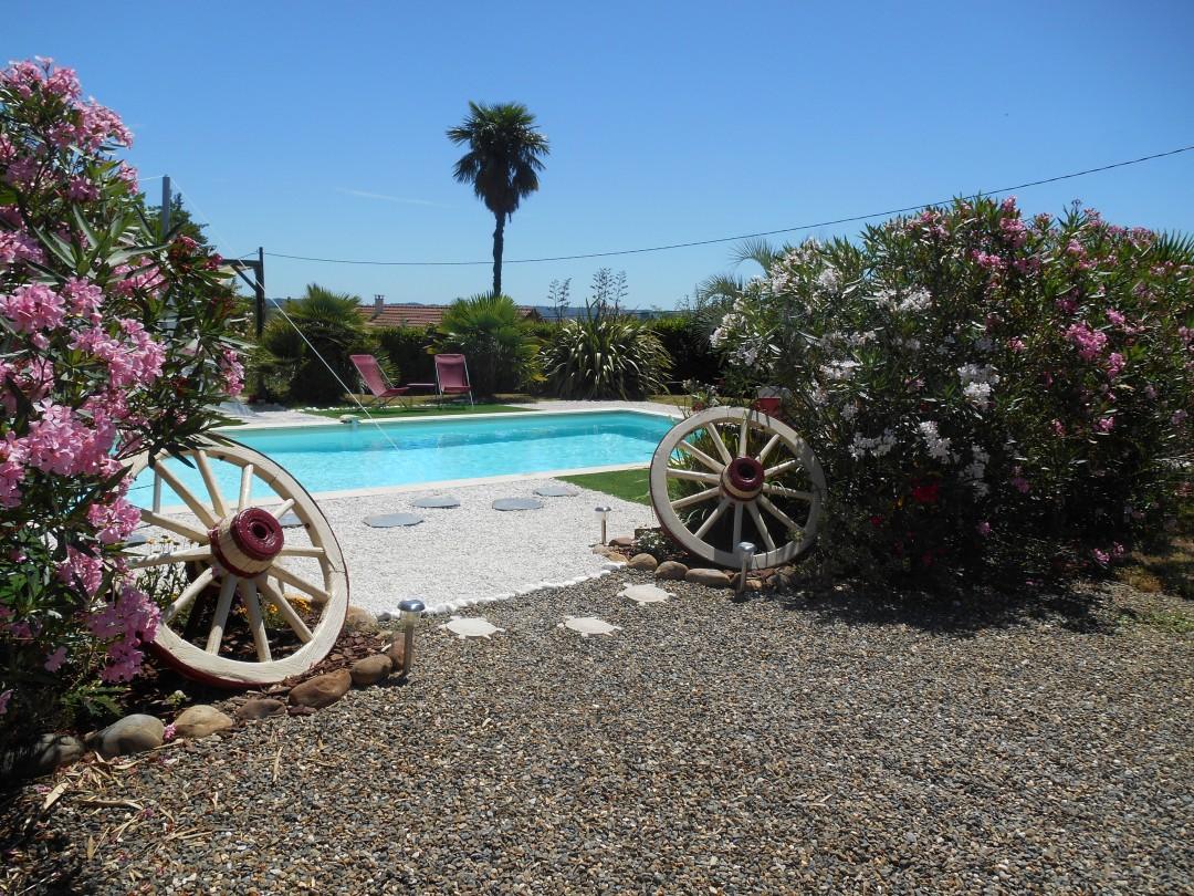 Entrée piscine roues